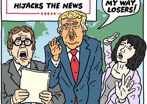 Trump Hijacks the News