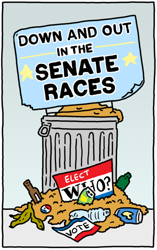 Down and Out in the Senate Races