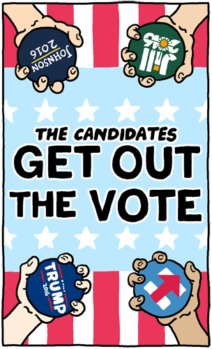 Candidates Get Out the Vote